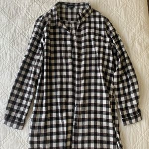 Black, White, & Red Flannel Dress/Tunic